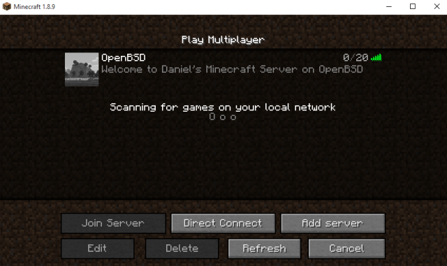 MineCraft server running in OpenStack